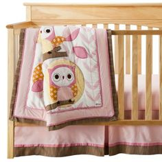 Oh my goodness, I want a little girl!!! - Cocalo Baby 8 Piece Crib Set - In The Woods