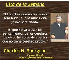 Cita de la Semana (Junio 9, 2013) via Charles H. Spurgeon
