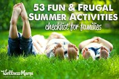 These 53 summer activities are fun for the whole family (and frugal too!) with ideas for playing outside, cooking inside and exploring.