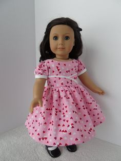 Valentine's Day 1950s Dress in Pink White and Red for by kgabor19