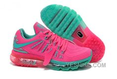 timeless design 02d0f ddc35 Women Nike Air Max 2015 Shoes Peachblossom Turquoise Cheap Nike Running  Shoes, Buy Nike Shoes