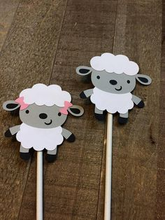 Lamb Baby Sheep Cupcake Topper Birthday Baby Shower Decor Decoration Gender Reveal Bible Crafts For Kids, Animal Crafts For Kids, Art For Kids, Baby Sheep, Sheep And Lamb, Eid Crafts, Paper Crafts, Foam Crafts, Sheep Cupcakes