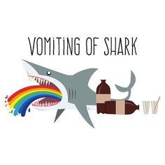 #vomiting of #shark  #flydesign #illustration
