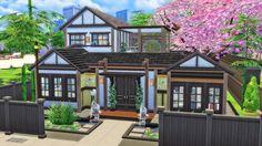 Laznye - JAPANESE HOUSE | Sims 4 $ 99 919 | 30 x 20 No... Sims 4 House Building, Sims House Plans, Building Games, Sims 4 Family House, Sims 4 Windows, Asian House, Japanese Style House, Sims 4 House Design, Casas The Sims 4