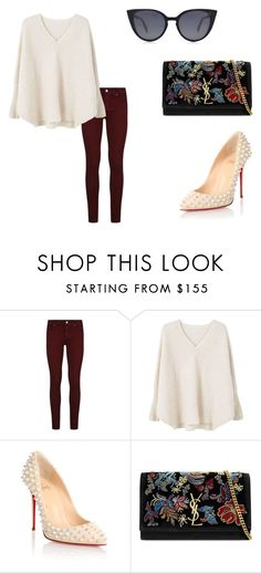 """""""Untitled #13"""" by nicantipoo on Polyvore featuring Paige Denim, MANGO, Christian Louboutin, Yves Saint Laurent and Fendi"""
