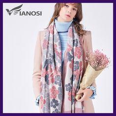 VIANOSI Cashmere Scarf Women Winter Scarves Wrap Luxury Brand Foulard Fashion Bufandas Mujer 2017 Scarf VA229