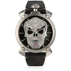 f3e08fc56072 Gagà Milano Men Bionic Skull Steel Watch (2 555 AUD) ❤ liked on Polyvore  featuring men s fashion