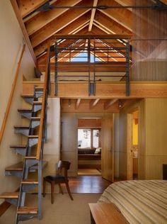 Diseño de escaleras de madera casas pequeñas