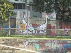 Graffito Donaukanal Wien Graffiti, Sidewalk, Side Walkway, Walkway, Graffiti Artwork, Walkways, Pavement, Street Art Graffiti