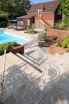 Our Classic Travertine paving and steps give instant warmth to your garden design. Couple with a luscious planting scheme and possibly a water feature for an instant Mediterranean feel.