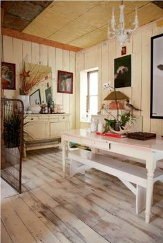 Interior House Design Ideas 09 – Dining Area equipped with Countryside Decorative Accents