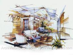 Interior Design Sketches Kitchen interior design renderings - http://www.myoffice-room.in/interior