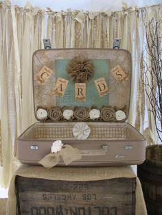 Vintage Suitcase For Wedding Card Holder by TheShabbyChicWedding, $100.00
