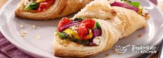 Easy to make. Hard to forget. This delicious Roasted Vegetable Puff Pastry recipe is sure to be a crowd pleaser. Slow Roasted Tomatoes, Roasted Vegetables, Bacon Appetizers, Appetizer Recipes, Puff Pastry Sheets, Puff Pastry Recipes, Unique Recipes, Vegetable Recipes, Yummy Food