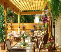 Give your small patio a distinct look with a beautiful pergola. Pergola is basically an outdoor feature that can be functioned to provide shade and protection Wood Pergola, Pergola With Roof, Backyard Pergola, Pergola Plans, Pergola Ideas, Pergola Kits, Covered Pergola, Backyard Patio Designs, Pergola Designs