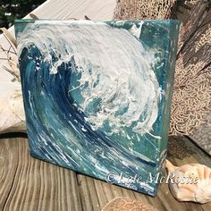 Your place to buy and sell all things handmade Coastal Wall Art, Beach Wall Art, Coastal Decor, Beach Canvas, Beach Wedding Gifts, Beach Gifts, Gifts For Surfers, Beach Bridal Showers, Mini Canvas Art