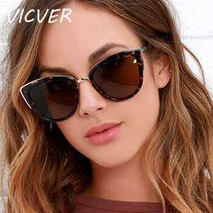 acheter Cateye lunettes de Soleil Femmes De Luxe Marque Designer Vintage Gradient Lunettes Rétro Cat eye lunettes de Soleil Mode Féminine Lunettes UV400