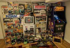 Game collection.  Oh, I remember I wanted the ADAM for Colecovision so bad; outta my parent's range back in the day.  I did get the Netlink Saturn when I started college; it was actually my first home internet access :)