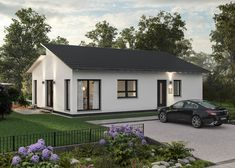 LifeStyle 31 (out) von massa haus Bungalows, House Roof, Steel Frame, House Plans, New Homes, Exterior, Outdoor Structures, House Design, Mansions