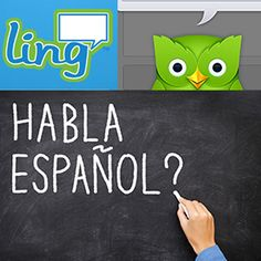 Learning a new language requires a huge investment of time, but it doesn't necessarily call for a big investment of money. These are the best free apps for learning a language. Spanish Teacher, Spanish Classroom, Teaching Spanish, Spanish Activities, Ap Spanish, Spanish Lessons, Learn Spanish, French Lessons, Learning Apps