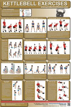 $19.95 - This full-color poster features 12 Kettlebell exercises for working the whole body, chest, back and legs. All exercises are clearly explained with step-by-step instructions and descriptive photos. #Kettlebell #Poster #Chart #Exercise