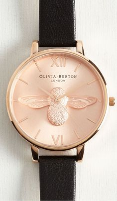 2d22e7796732 bee watch by Olivia Burton. I own this with brown leather strap and yel gold