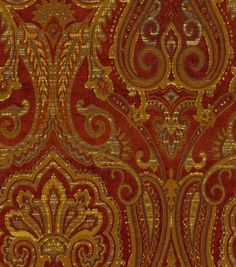 Waverly Upholstery Fabric-Clubroom Paisley Crimson