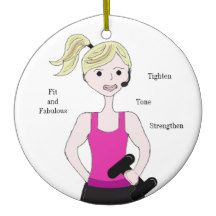 Gotta Work Out Female Weight Lifting Christmas Ornaments #workingout #fitness