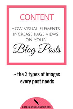 How Visual Elements Increase Page Views (+ the 3 types of images every post needs)