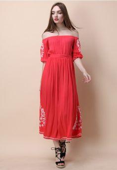 76130d3b19e Boho Nymph Off-shoulder Maxi Dress in Coral Maxi Wrap Dress