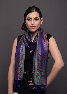 2e312eda5fa Kristen Purple Silk Scarf - MCM16. Paisley Design ...