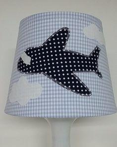 """Tischlampen - Kinderlampe """"Flugzeug"""" - ein Designerstück von Firlefanz-Unna bei…"""