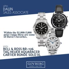 Find Bell & Ross, TAG Heuer and Cartier watches in Philadelphia l Govberg Jewelers