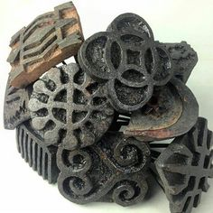 Adinkra stamps are made from prices of carved calabash and used to imprint…