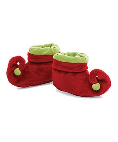 {Infant Elf Booties} So cute for a baby's first Christmas #zulily #ad *Adorable!