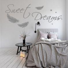 WANDTATTOO AA092 Sweet Dreams Federn Schlafzimmer Wandaufkleber Spruch | Möbel & Wohnen, Dekoration, Wandtattoos & Wandbilder | eBay!