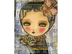 Memories - Reproduction Of Original Collage Beeswax Painting By Danita Art (Paper and ACEO Wood Mounts) on Etsy, $10.24 AUD