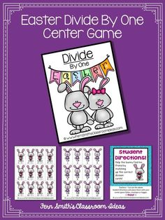 Quick and Easy to Make Division Center Game Divide By One Concept for Easter #TPT $Paid