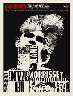 Morrissey Concert Poster  Center for the Arts- Mizner Park Amphitheatre  Feb 28, 2009  poster artist: Robert Lee of Methane Studios