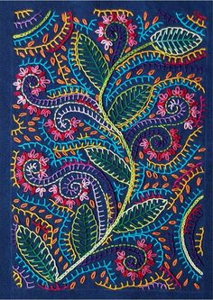 colourful embroidery with simple stitches