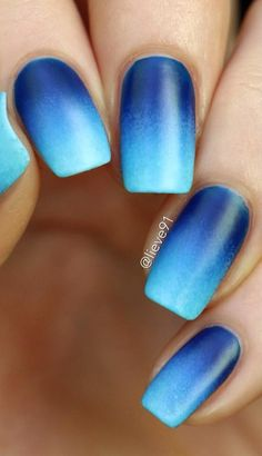 Want some ideas for wedding nail polish designs? This article is a collection of our favorite nail polish designs for your special day. Blue Acrylic Nails, Blue Nails Art, Glow Nails, Nagel Blog, Ombre Nail Designs, Pretty Nail Art, Dream Nails, Nagel Gel, Stylish Nails