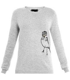 Bird Intarsia-Knit Sweater by Burberry Prorsum. tweet tweet #matchesfashion