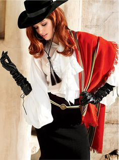 Glove Fashion: Heide Lindgren in Marciano Leather Gloves. Guess by Marciano F/W 2011/12 Ad Campaign.