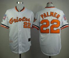 MLB Baltimore Orioles 22 Palmer White Throwback with Hall of Fame Patch  Jersey 9aa9386f1