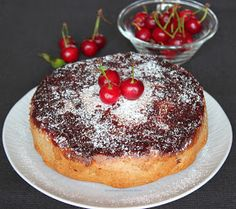 Vanilla&Staubzucker: Torta rustica di amarene rovesciata - Rustikalna preokrenuta torta od višanja