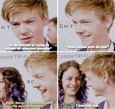 Thomas Sangster and Kaya Scodelario - I'm sorry — your question?:)