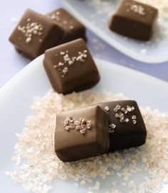 Sea Salted Milk and Dark Chocolate Covered Caramels.  Can we say melt in your mouth HEAVEN.