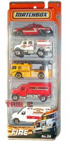 2010-2011 MATCHBOX 5 PACK, FIRE cars #9: Ford Crown Victoria, International WorkStar Brush Fire Truck, Fire Engine, MBX Tanker, Ford E-350 Ambulance by Mattel, http://www.amazon.com/dp/B0062RX8UY/ref=cm_sw_r_pi_dp_yMJnqb0DXGW3B
