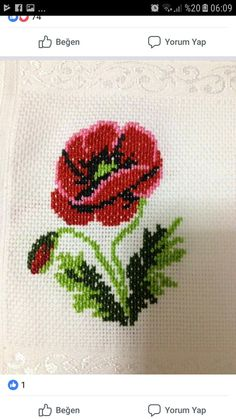 Pixel Art, Cross Stitch Embroidery, Needlepoint, Poppies, Diy And Crafts, Sewing Patterns, Crafty, Beads, Crochet