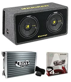 kicker dc12 dual 12 600w loaded car audio subwoofers subs. Black Bedroom Furniture Sets. Home Design Ideas